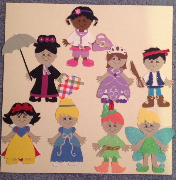 Disney Characters Everyday Paper Doll And Dress Cricut Cartridge Projects