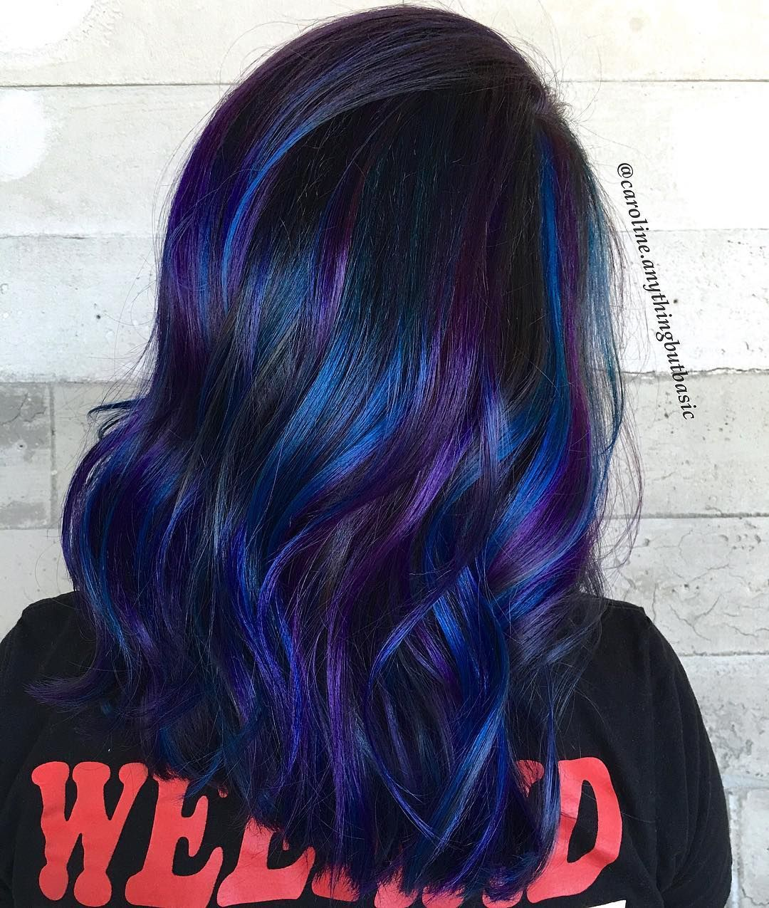 Hair Color Blue And Purple Highlights