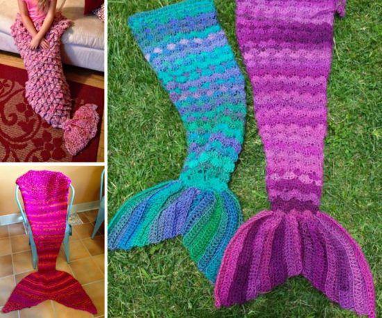Crochet Mermaid Blanket Tutorial Youtube Video DIY  More