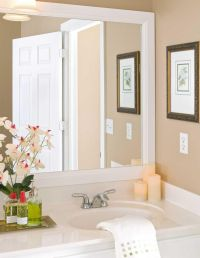 White Framed Bathroom Mirrors | Mirrors | Pinterest ...