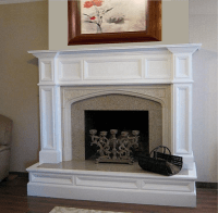 Oxford Wood Fireplace Mantel - Custom | Wood mantels ...