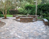 hardscaping ideas | Brick Paver Patio, Custom Firepit ...