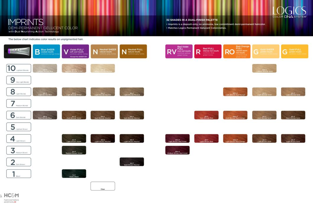 Matrix Logics Hair Color Chart Hairstly