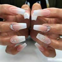 20 Worth Trying Long Stiletto Nails Designs | White coffin ...