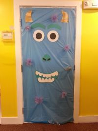Sully from Monsters Inc. Halloween Door