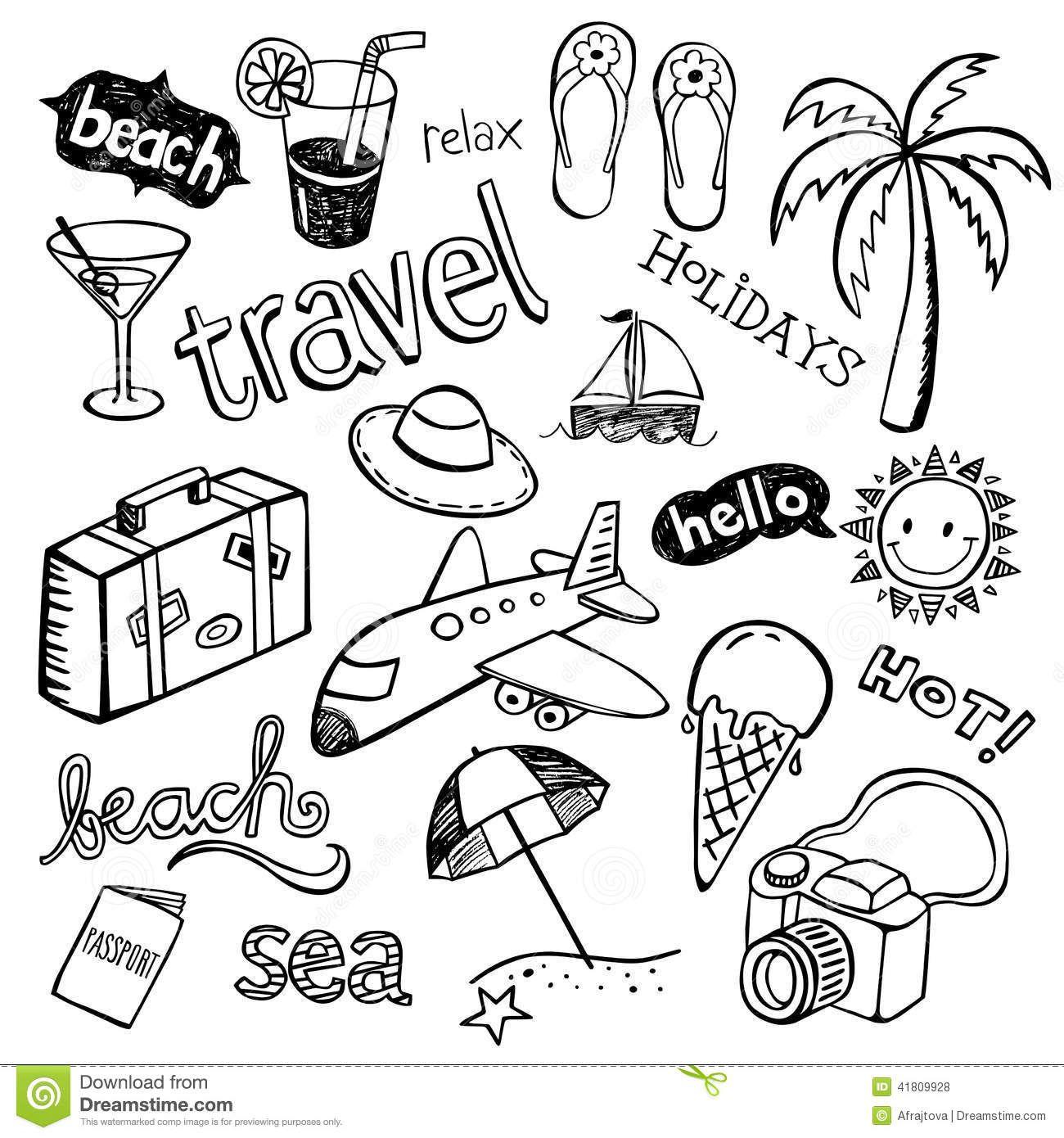 Beach Holiday Doodle