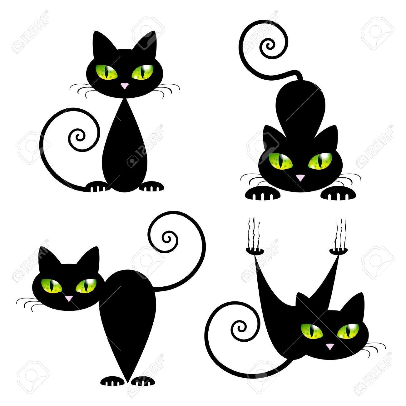 Black Cat Drawing Outline