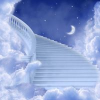 Paintings of stairways to heaven | Photography Backdrop ...