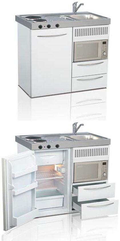 Mini kitchen, compact kitchen, small kitchen, space saving