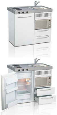 Mini kitchen, compact kitchen, small kitchen, space saving