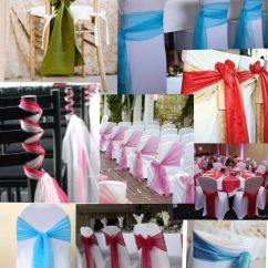 How To Make Chair Sashes Wooden High With Tray Different Ways Tie Wedding Pinterest