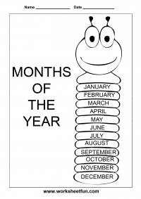 ALL TYPES of printable posters: months, days, counting by