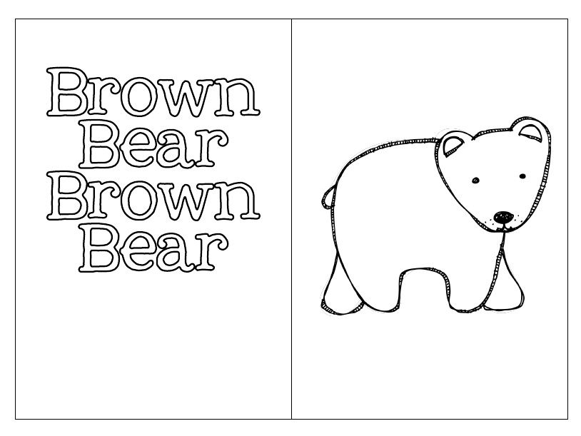 brown bear printable book (students write color words