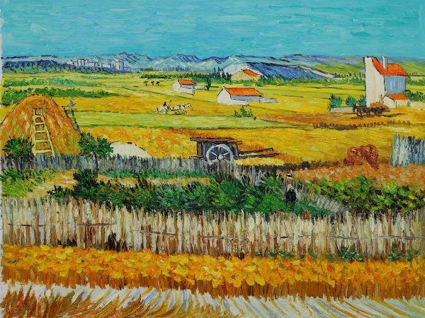 Vincent Van Gogh Harvest - Hand Painted Oil Painting
