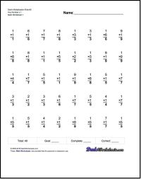 Multiplication Worksheets The worksheets here include