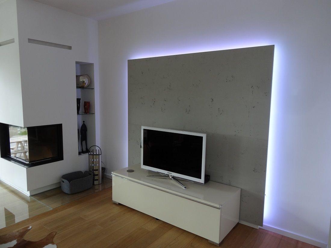 TVSchrank Wohnzimmer  Rckwand mit LED von Lauer DIE
