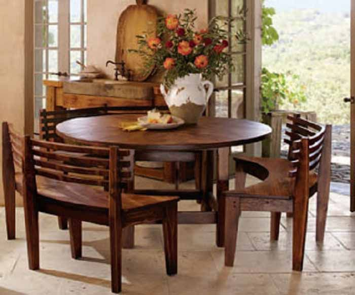 Round Dining Room Table Sets with Benches
