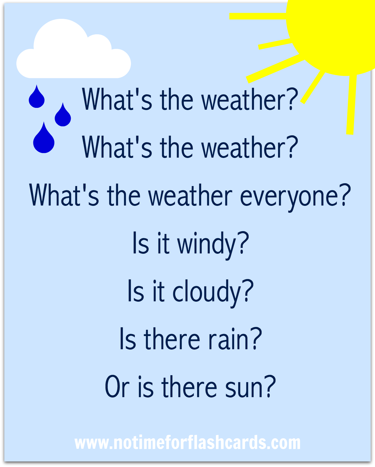 Preschool Weather Song