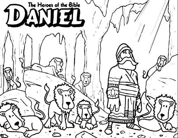 Daniel The Bible Heroes Coloring Page Netart