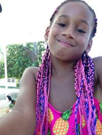 Pink and blue mixed box braids. Perfect for little girls ...