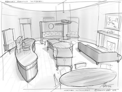 How To Draw A Circular Sofa In Perspective Google Search
