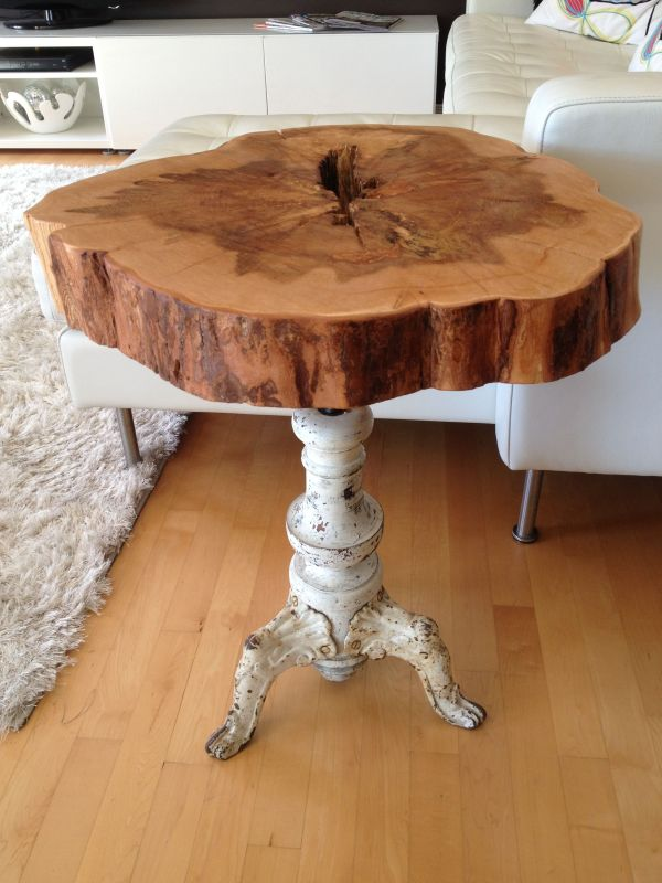 Live Edge Table With Hairpin Legs Coffee