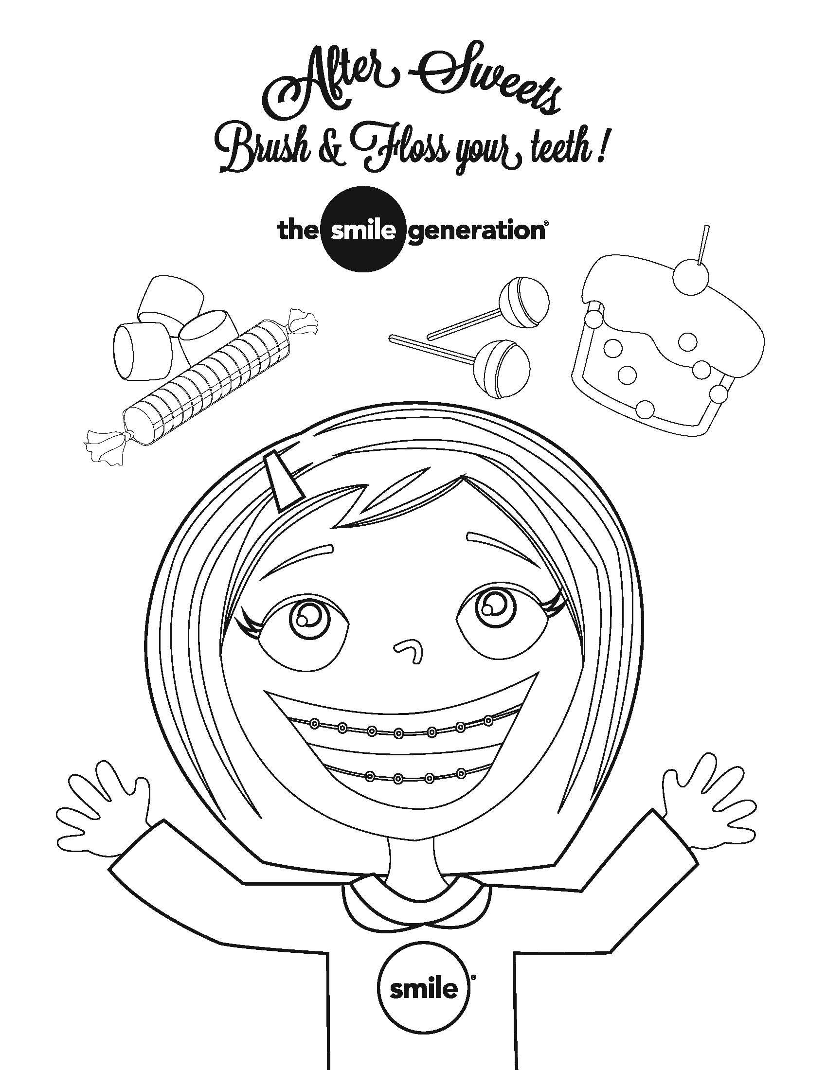Dental Month Coloring Pages