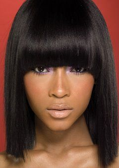 Medium Length Hairstyles For Black Women Bobs Fringes And Blunt