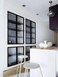 Black-frame cabinetry | Interior Design | Pinterest | Wet ...