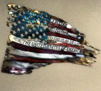 War Torn American Flag Metal Wall Art   Metal walls, Flags ...