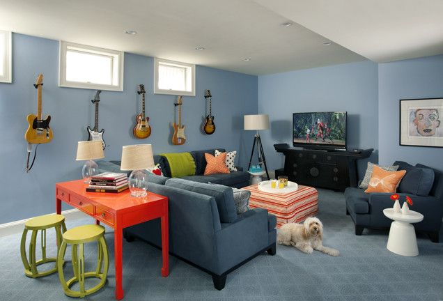 Family Rec Room Decorating Ideas