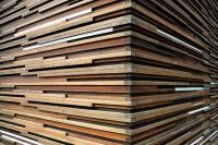 Contemporary White Wood Slat Ceiling Panels | Wooden walls ...