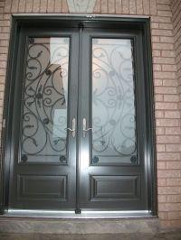 double front exterior doors fiberglass