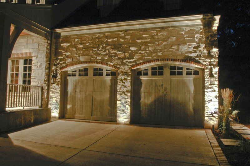 Garage Lighting  Outdoor Accents Lighting  Garage Door