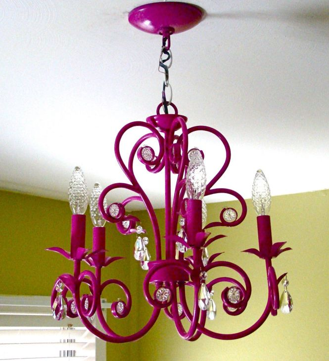 I Love The Idea Of Painting A Chandelier Brightly To Add Shot Color