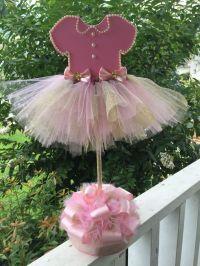 Baby shower tutu centerpiece | Baby girl shower ideas ...