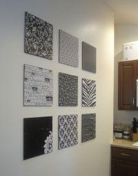 DIY Scrapbook Paper Wall Art | Diy scrapbook, Empty wall ...