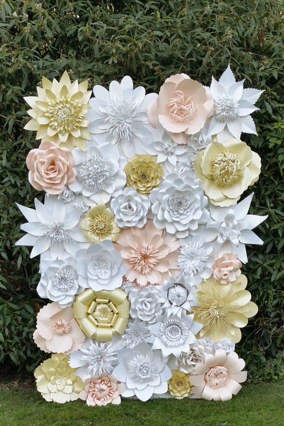 Paper Flower Backdrop for Weddings and Events