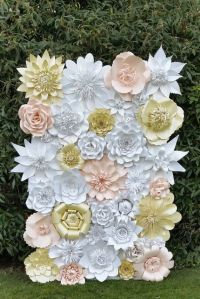 Paper Flower Backdrop for Weddings and Events-Paper ...
