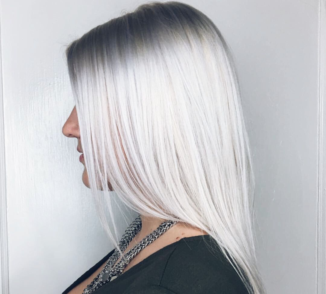 Silver Blonde Hair Color Chart