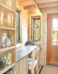 Inside the epu tiny house built by jay shafer for tumbleweed houses small also rh pinterest