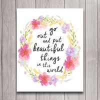 Inspirational Quote Nursery Wall Art Poster Instant ...