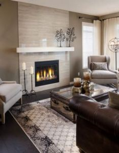 Fireplace trunk table designfireplace also dark shades brown and living rooms rh pinterest