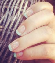 easy-cute-french-tips-tipped-baby-blue-glitter-sparkle-summer-fall-winter-manicure-easy-quick