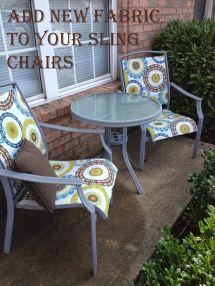 #patio Sling Chair #redo