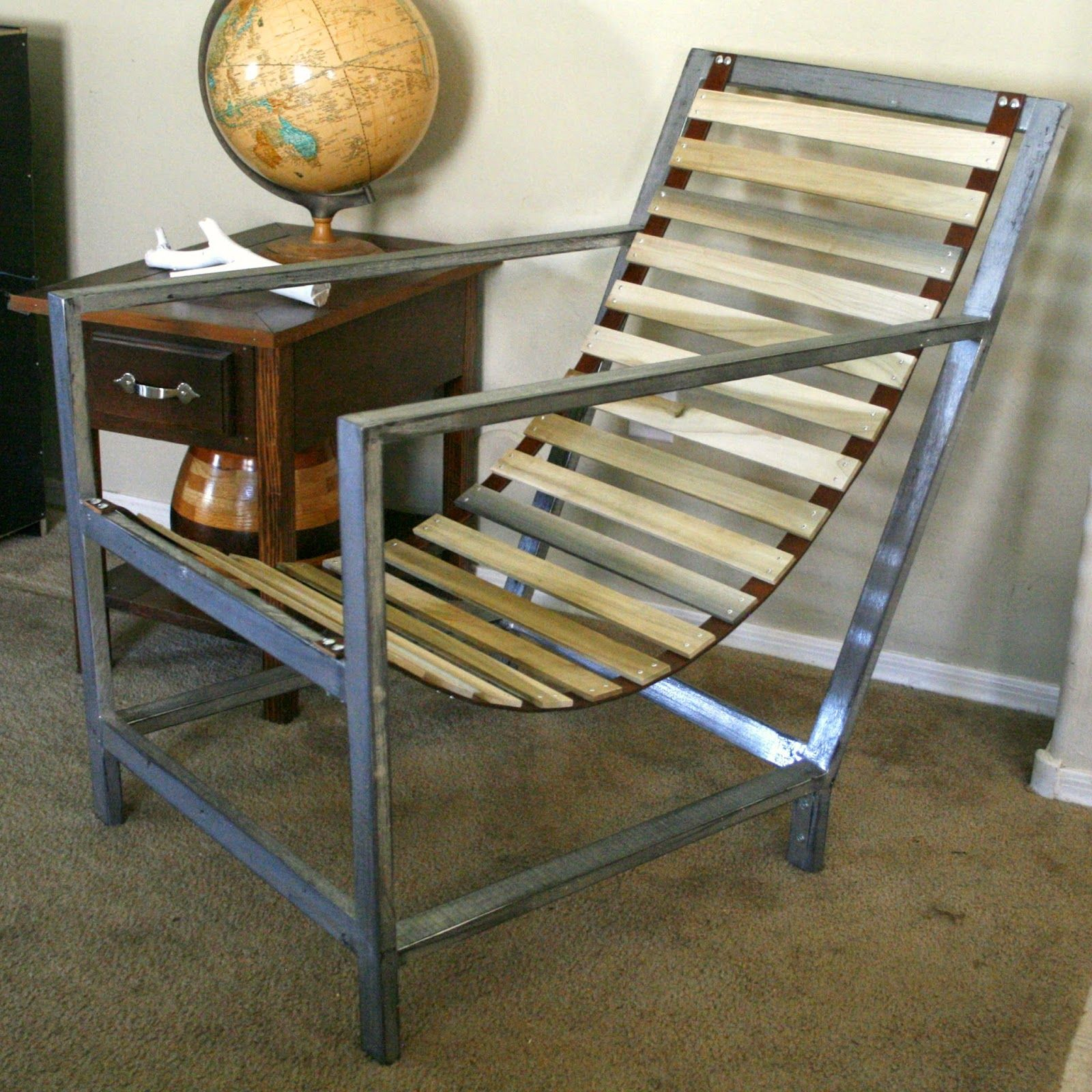 diy leather belt chair wooden swing plans pneumatic addict furniture how to rivet wood and or