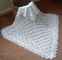Beautiful Baby Shawl Blanket Hand Knitted in A Lace