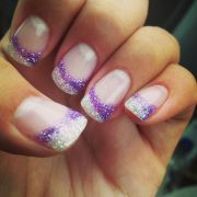 purple and white nails brandy