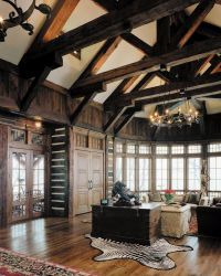 Glamorous High Ceiling Great Room With Custom Lutron