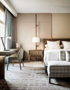 modern hotel interior with simple bedroom design that makes use of geometric patterns plus also rh pinterest